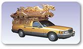 黄金宮型霊柩車